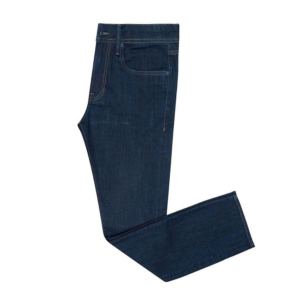 Jean azul oscuro en algodón con elastano
