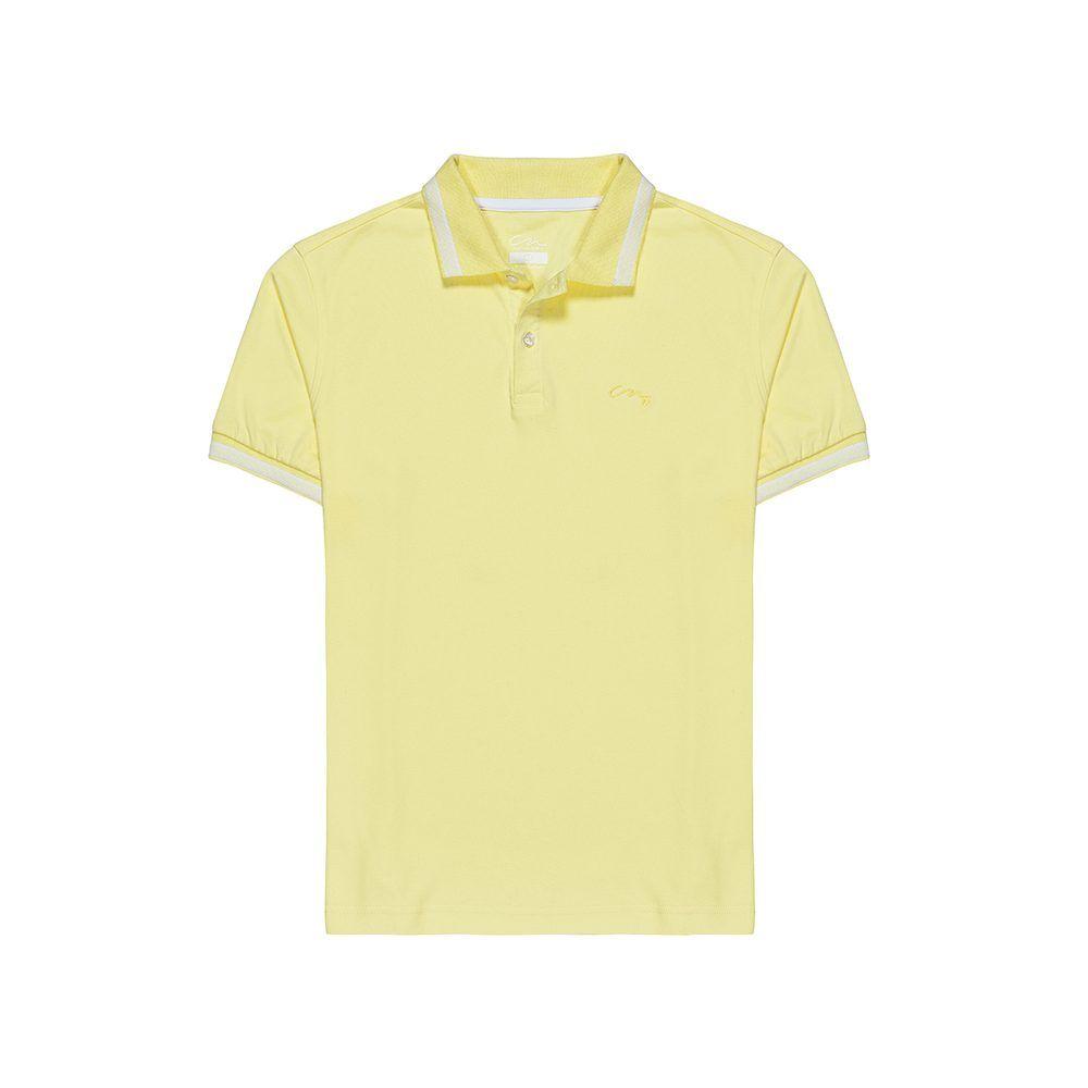 Polo amarilla en 100% algodón pima Peruano.