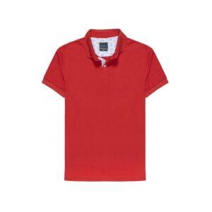 Polo roja en 100% algodón pima Peruano.