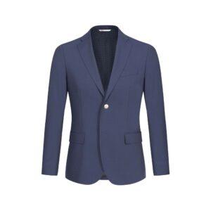 Blazer azul medio dos botones en 100% lana Italiana de Angelico