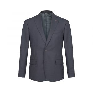 Blazer azul micro diseño en lana
