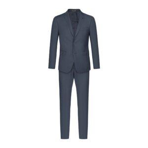 Traje azul oscuro micro diseño en 100% lana merino Italiana de Loro Piana.