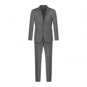 Traje gris medio jaspeado en 100% lana súper 150´s Italiana de Marzotto.