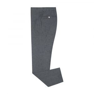 Pantalón gris con silueta regular. Confeccionado en 100% lino de origen Italiano respirable