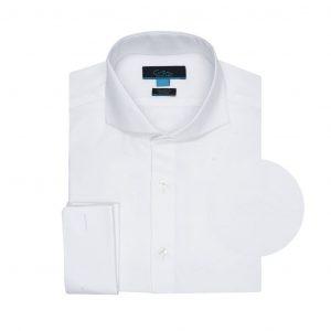 Camisa blanca 100% algodón Italiano de Albini.