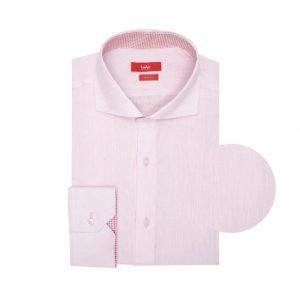 Camisa rosada en lino. Silueta relajada.
